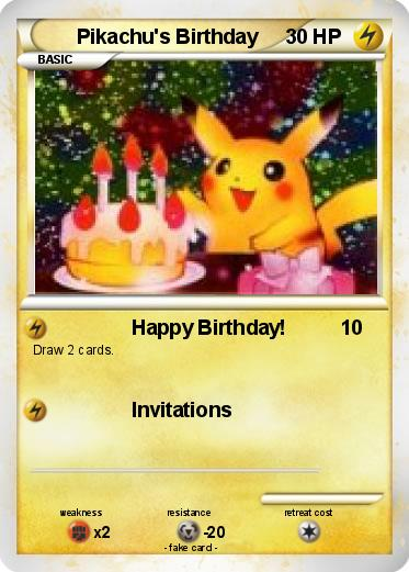 Pokemon Pikachu's Birthday