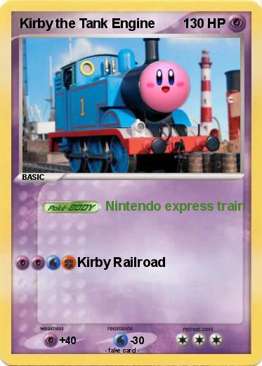 Pokemon Kirby the Tank Engine