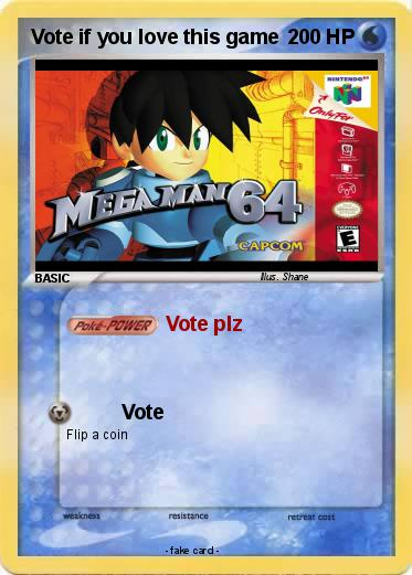 Pokemon Vote if you love this game