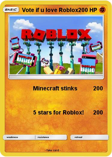 Pokemon Vote if u love Roblox