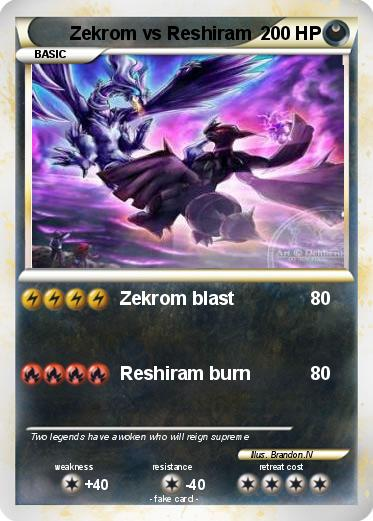 Pokemon Zekrom vs Reshiram