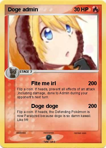 Pokemon Doge admin