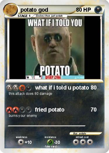 Pokemon potato god
