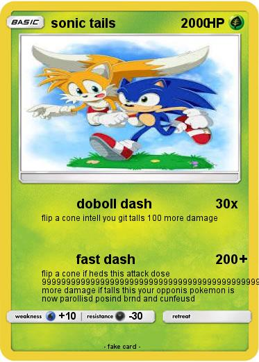 Pokemon sonic tails                         0