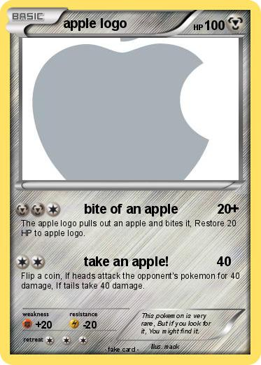 Pokemon apple logo