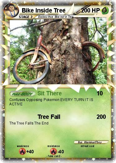 Pokemon Bike Inside Tree