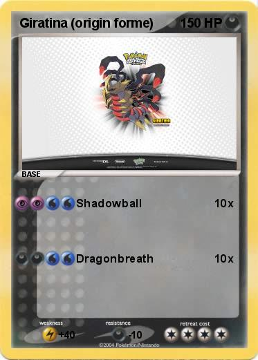 Pokemon Giratina (origin forme)