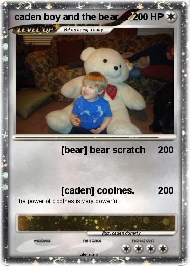 Pokemon caden boy and the bear