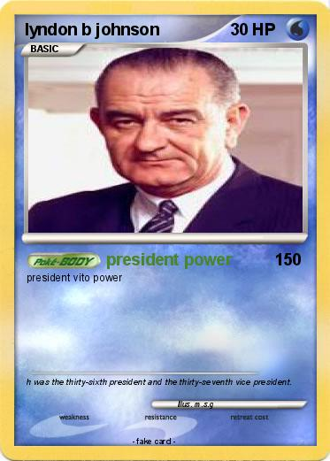 Pokemon lyndon b johnson
