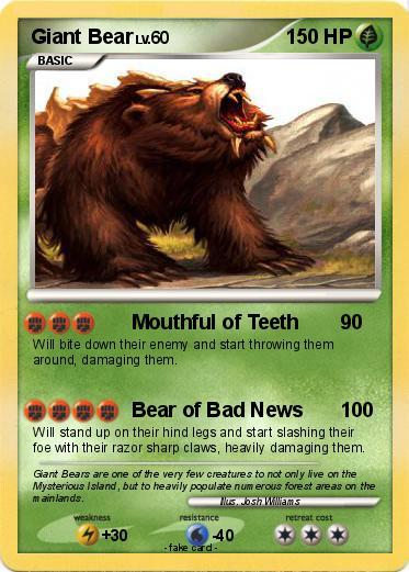 Pokemon Giant Bear