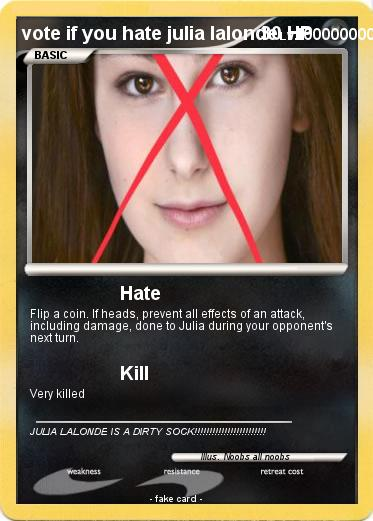 Pokemon vote if you hate julia lalonde