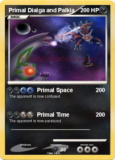 Pokemon Primal Dialga and Palkia