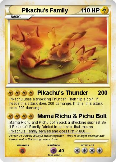 Pokemon Pikachu's Family