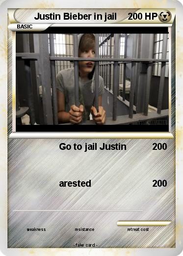 Pokemon Justin Bieber in jail