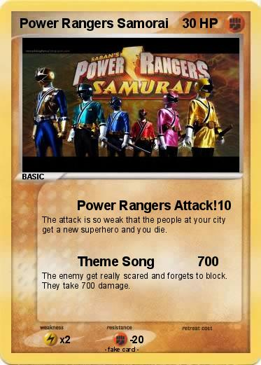 Pokemon Power Rangers Samorai