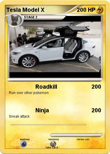 Pokemon Tesla Model X