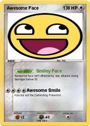 Pokemon Awesome Face