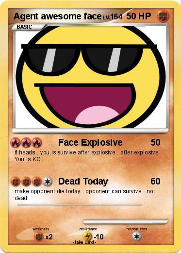 Pokemon Agent awesome face
