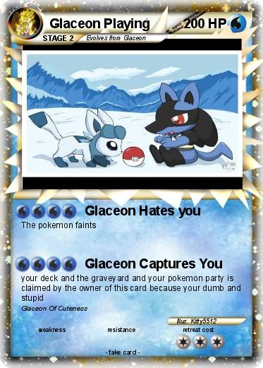 Pokemon Glaceon Playing