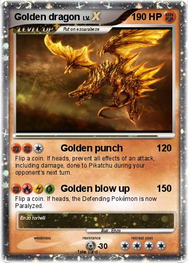 Pokemon Golden dragon