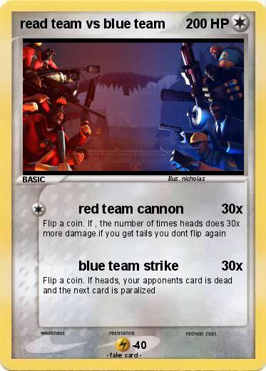 Pokemon read team vs blue team