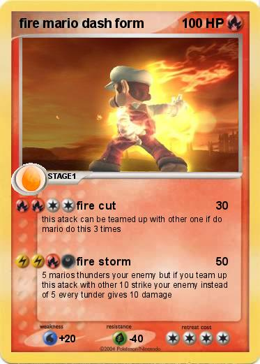 Pokemon fire mario dash form