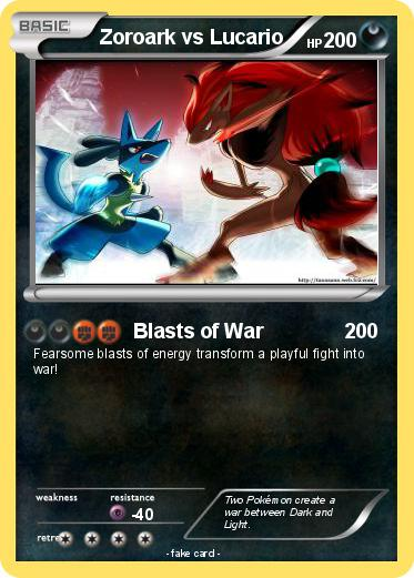 Pokemon Zoroark vs Lucario