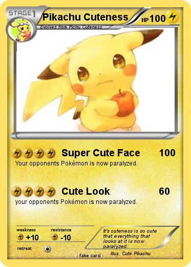Pokemon Pikachu Cuteness