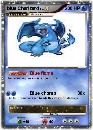 Pokemon blue Charizard