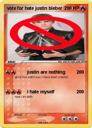 Pokemon vote for hate justin bieber