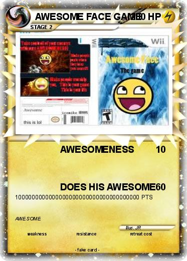 Pokemon AWESOME FACE GAME