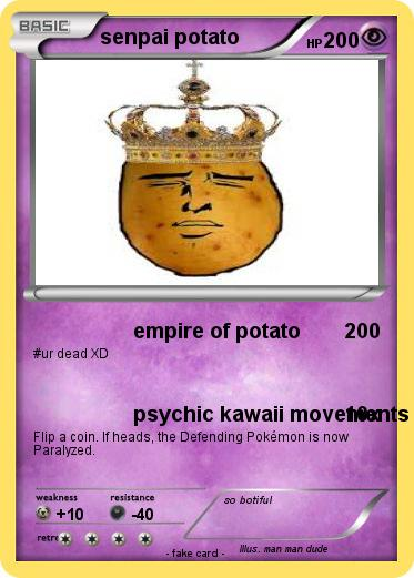 Pokemon senpai potato