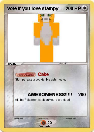 Pokemon Vote if you love stampy