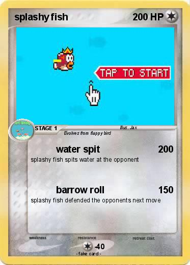 Pokemon splashy fish