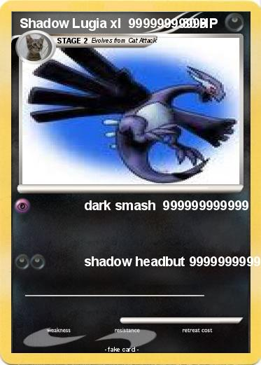 Pokemon Shadow Lugia xl  99999999999