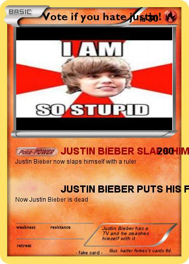 Pokemon Vote if you hate justin!