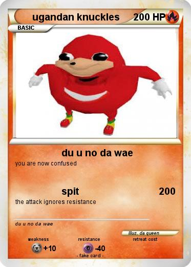 Pokemon ugandan knuckles