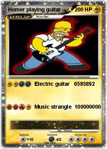 Pokemon Homer playing guitar