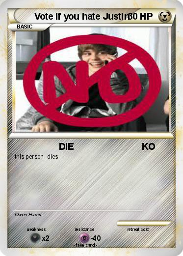 Pokemon Vote if you hate Justin