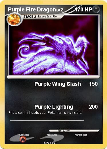 Pokemon Purple Fire Dragon