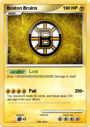Pokemon Boston Bruins