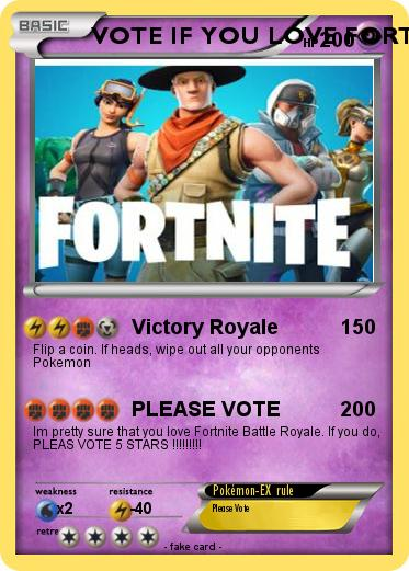 Pokemon VOTE IF YOU LOVE FORTNITE