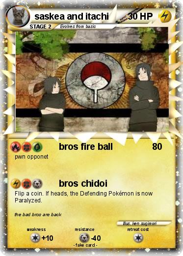 Pokemon saskea and itachi