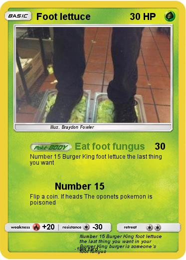 Pokemon Foot lettuce