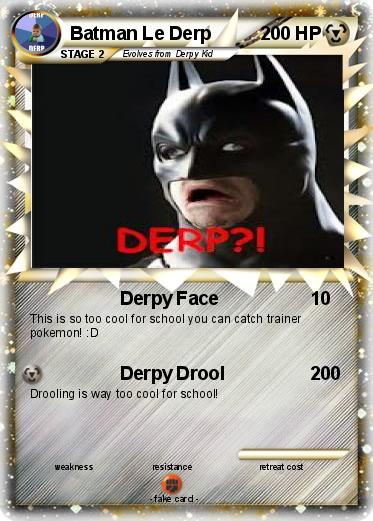 Pokemon Batman Le Derp