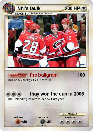 Pokemon Nhl's faulk