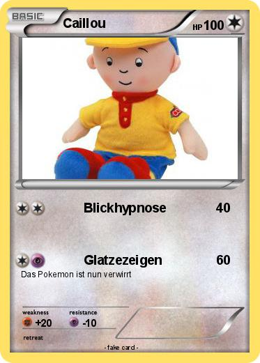 Pokemon Caillou
