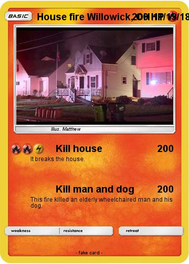 Pokemon House fire Willowick, OH 11/13/18