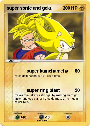 Pokemon super sonic and goku