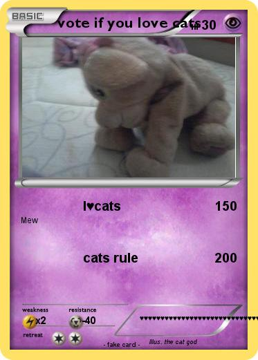 Pokemon vote if you love cats